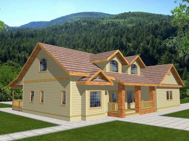 Country Home Plan, 012H-0110