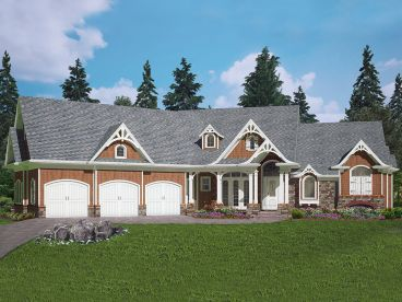 Unique Ranch House Plan, 084H-0026
