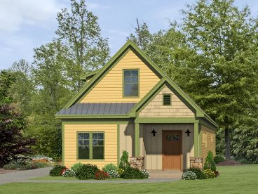 Narrow Lot Home Plan, 062H-0093