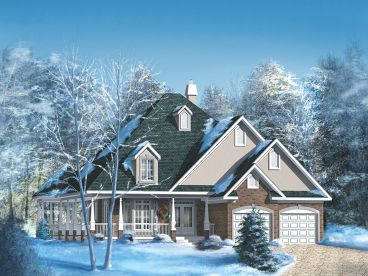 Unique Ranch House Plan, 072H-0050