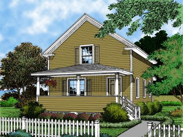Narrow Lot Home Design, 043H-0021