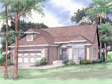 Florida Style Home Plan, 009H-0053