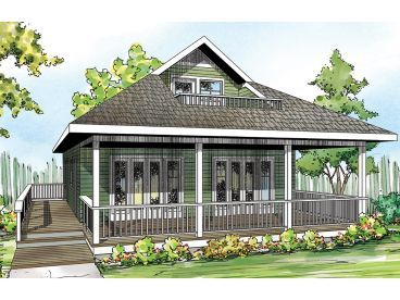 Vacation House Plan, 051H-0273