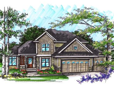 Two-Story House Plan, 020H-0242