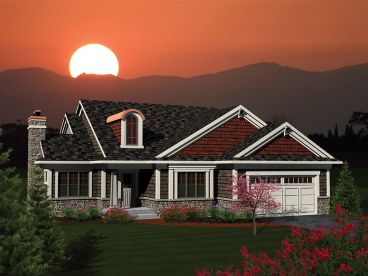 Empty-Nester Home Plan, 020H-0291