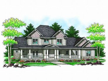 Country House Plan, 020H-0159