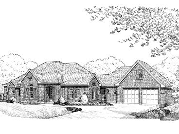 Ranch House Plan, 054H-0032