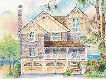 Coastal House Plan, 041H-0137