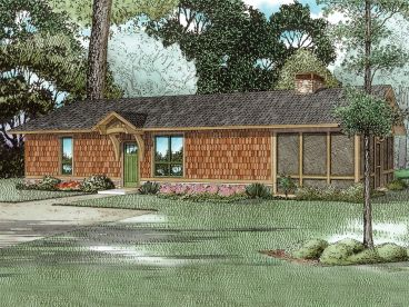 Vacation Cabin Plan, 025H-0354