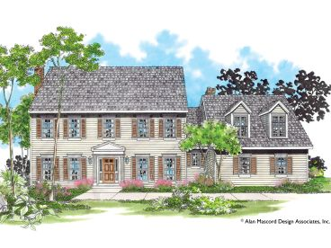 Colonial House Plan, 034H-0103
