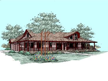 Country House Plan, 013H-0031