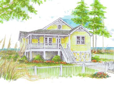 Beach Bungalow Home, 041H-0001