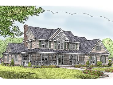 Country Farmhouse Plan, 044H-0041
