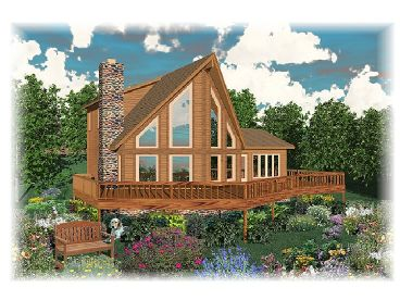 A-Frame Home Plan, 006H-0045