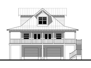 Coastal House Plan, 052H-0016