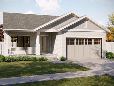 Empty-Nester House Plan, 050H-0198