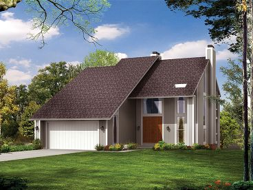 Narrow Lot House Plan, 057H-0007