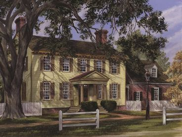Colonial House Plan, 063H-0077
