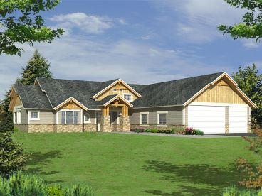 Mountain House Plan, 012H-0124