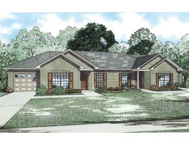 Multi-Family Home Plan, 025M-0089