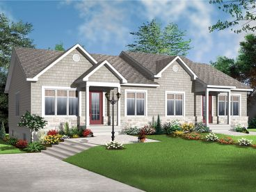 Duplex Home Design, 027M-0057