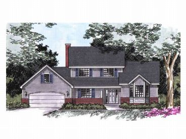 2-Story House Plan, 023H-0005