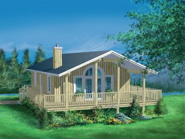 Vacation Cottage House Plan, 072H-0018