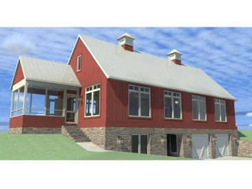 Narrow Lot House Plan, 052H-0087