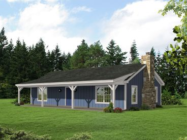 Small Country House Plan, 062H-0168