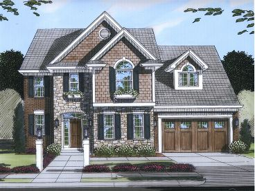 Two-Story House Design, 046H-0024