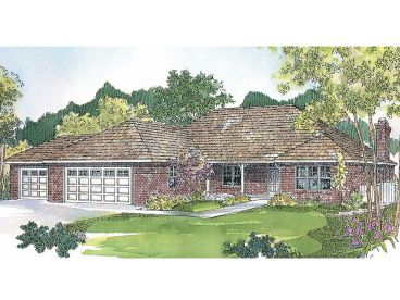 Ranch House Plan, 051H-0042