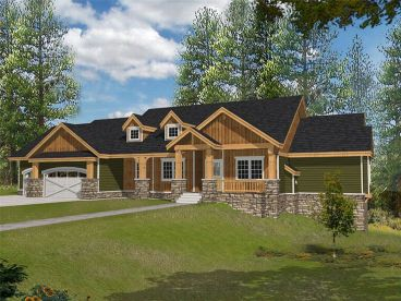 Craftsman Home Plan, 018H-0020