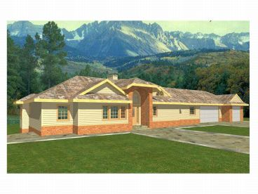 One-Story Home Plan, 012H-0033