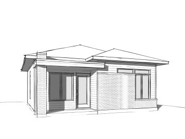 Tiny Modern House Plan, 027H-0463