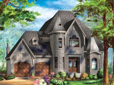 European House Plan, 072H-0240