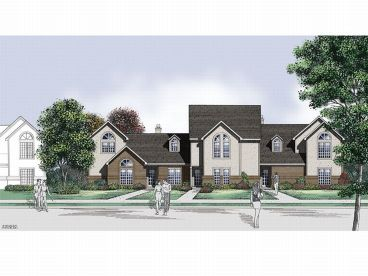 Townhouse plans townhouse floor plans the house plans shop for 4 bedroom townhouse designs