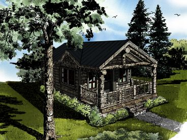 Vacation Cabin Plan, 066H-003