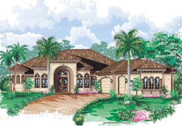Sunbelt Home Plan, 037H-0014