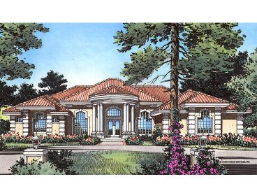 Mediterranean Home Plan, 043H-0191