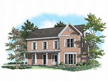 2-Story Home Plan, 019H-0088