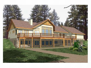 House Plan, Rear View, 012H-0039