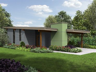 Modern Tiny House Plan 034h 0227