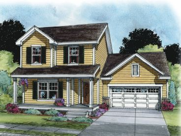 Two-Story House Plan, 031H-0340
