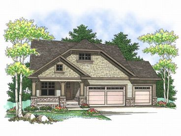 Bungalow House Plan, 020H-0143