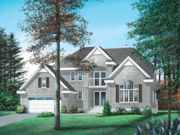 Two-Story House Plan,  072H-0022