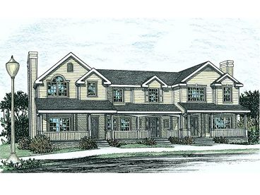 Triplex House Plan, 031M-0029