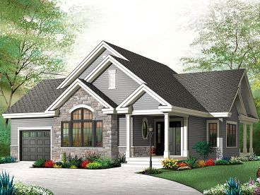 Affordable House Plans   Affordable Empty Nester Home Plan   H    Empty Nester House Plan  H