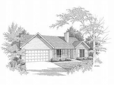 Traditional Home Plan, 019H-0045