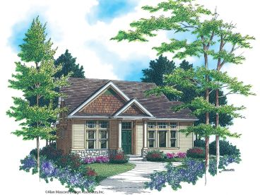 Narrow Lot Home Design, 034H-0098