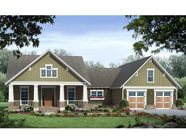 Craftsman Home Plan, 001H-0210